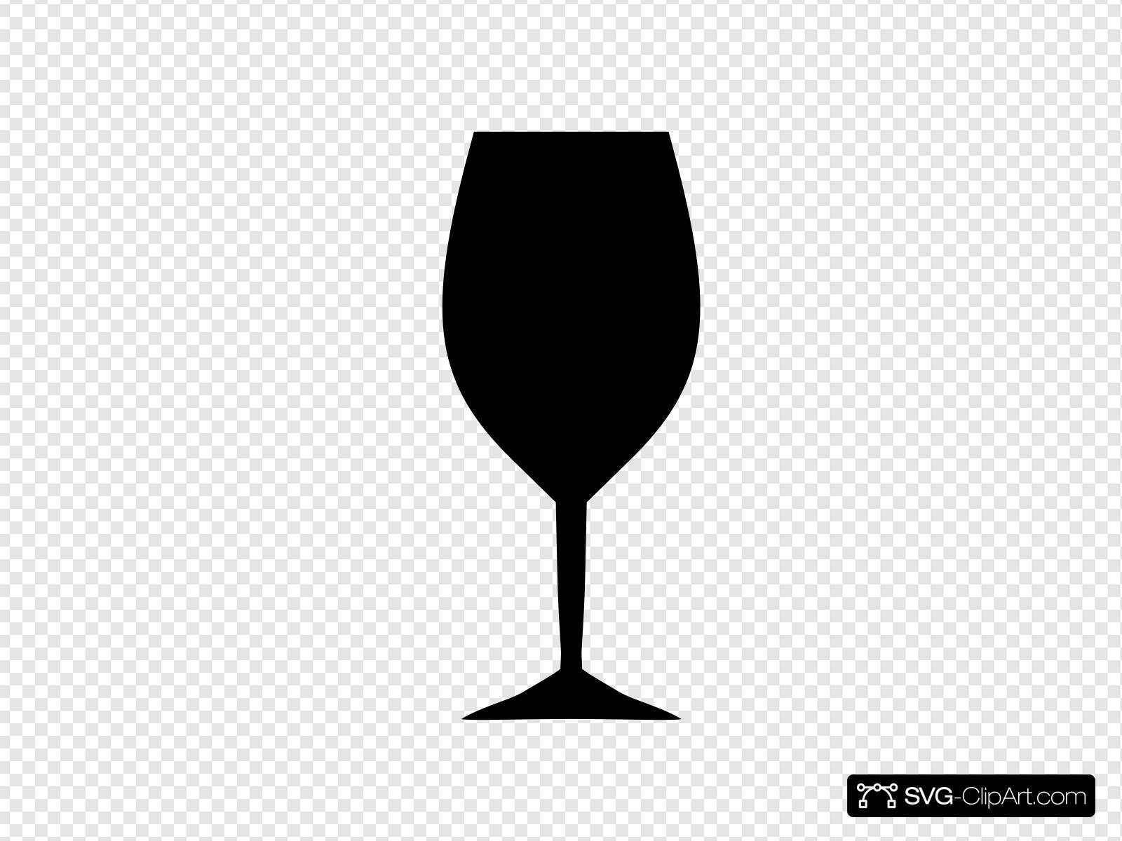 Wine Glass Clip art, Icon and SVG.