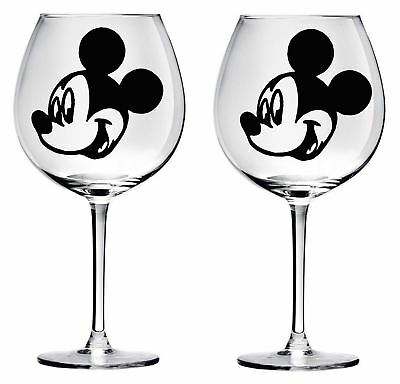 9 Mickey Mouse wine glass decals stickers wedding parties diy Bottle jars  wall.