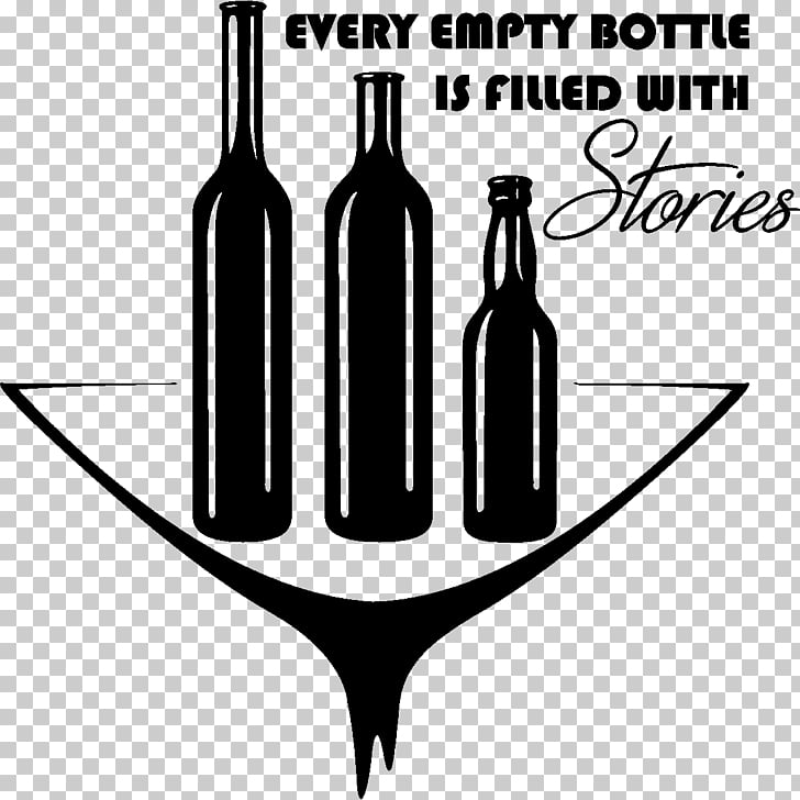 Wall decal Wine Glass bottle, wine PNG clipart.