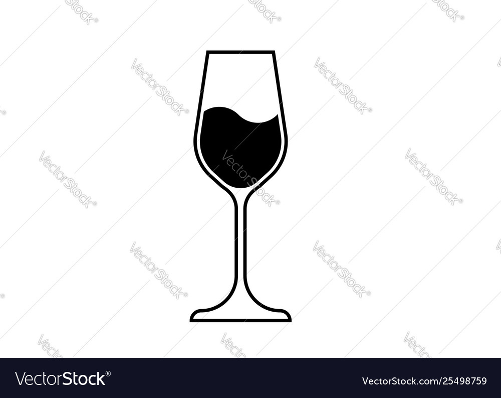 Wine glass icon wineglass logo glassware isolate.