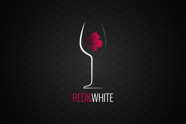 Wine glass logo design..