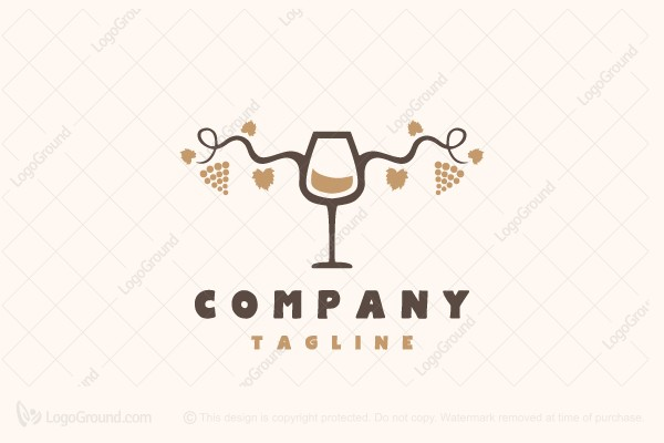 Exclusive Logo 168502, Wine Glass Logo.
