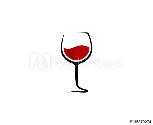 Wine glass logo.