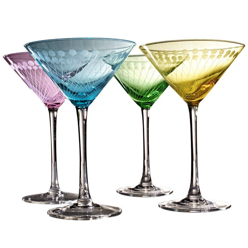 Martini Glasses, Sold Separately and in Sets.