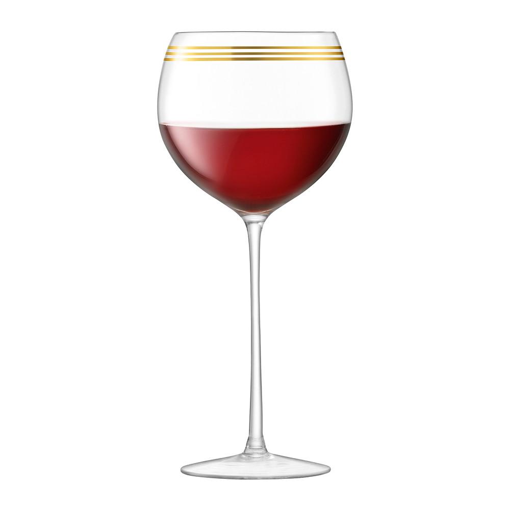 Deco Assorted Gold Wine Glasses.