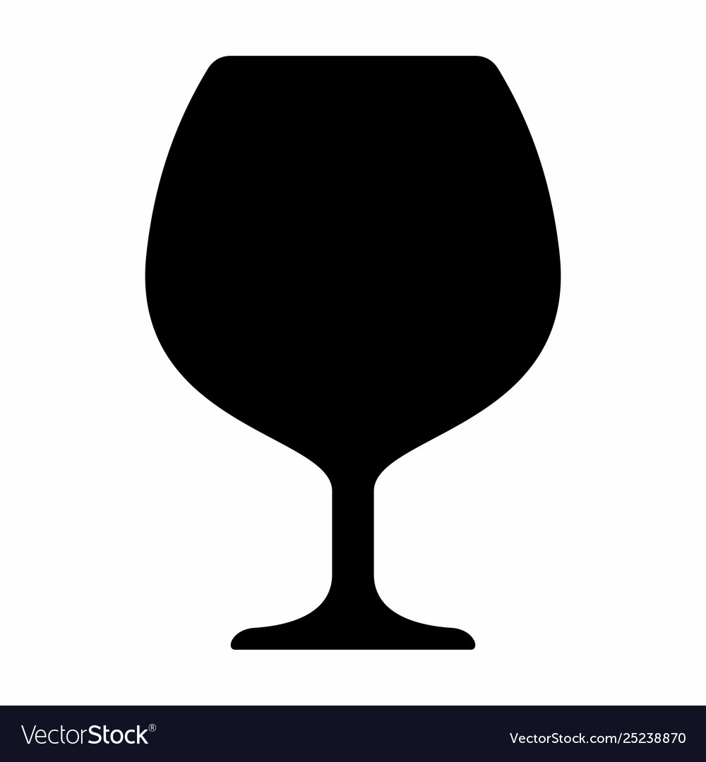 Cognac glass silhouette.