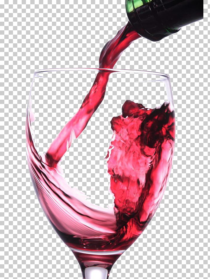 Red Wine Champagne Alcoholic drink, Pour red wine PNG.