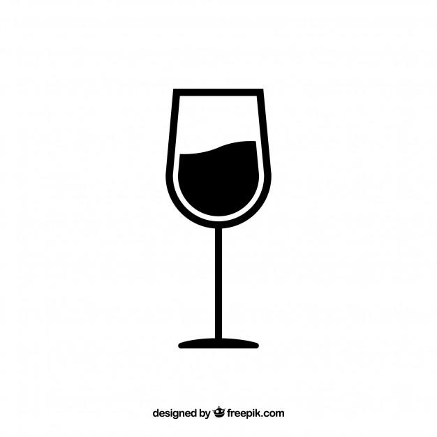 Wine glass vector Vector.