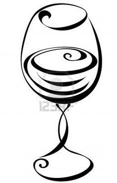 tiny wine glass tattoo.