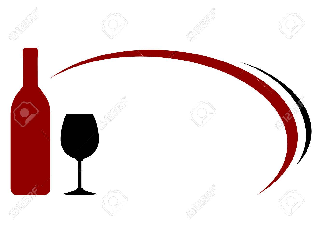 Free Clipart Wine Bottle And Glass.