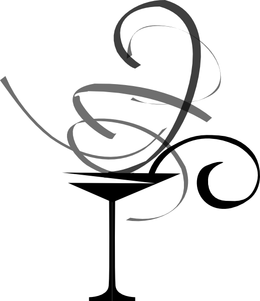 Martini Black Grey Swirl Clip Art at Clker.com.