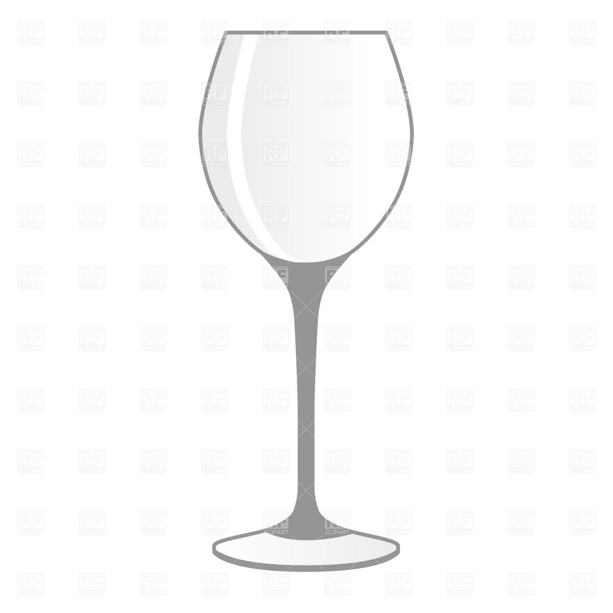 Empty wineglass Vector Image #570.