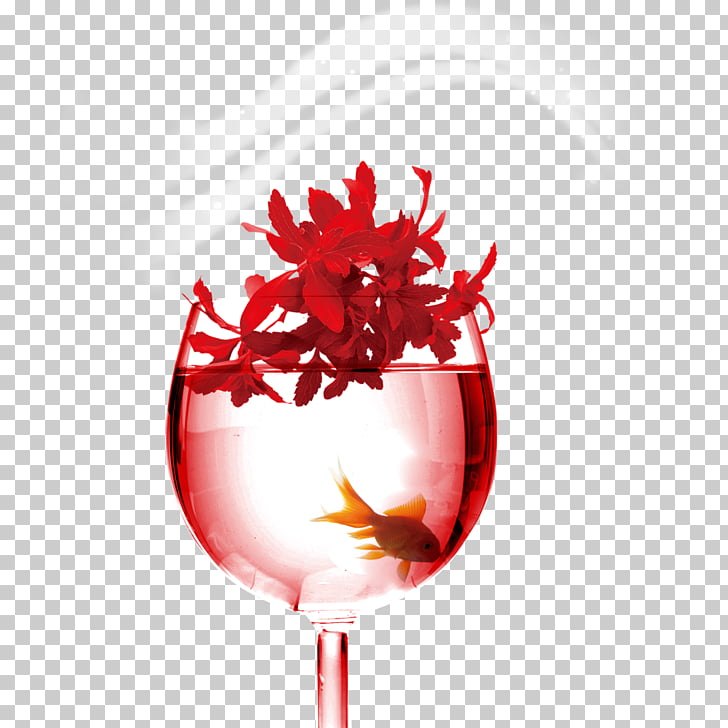 Heart , Red wine glass PNG clipart.