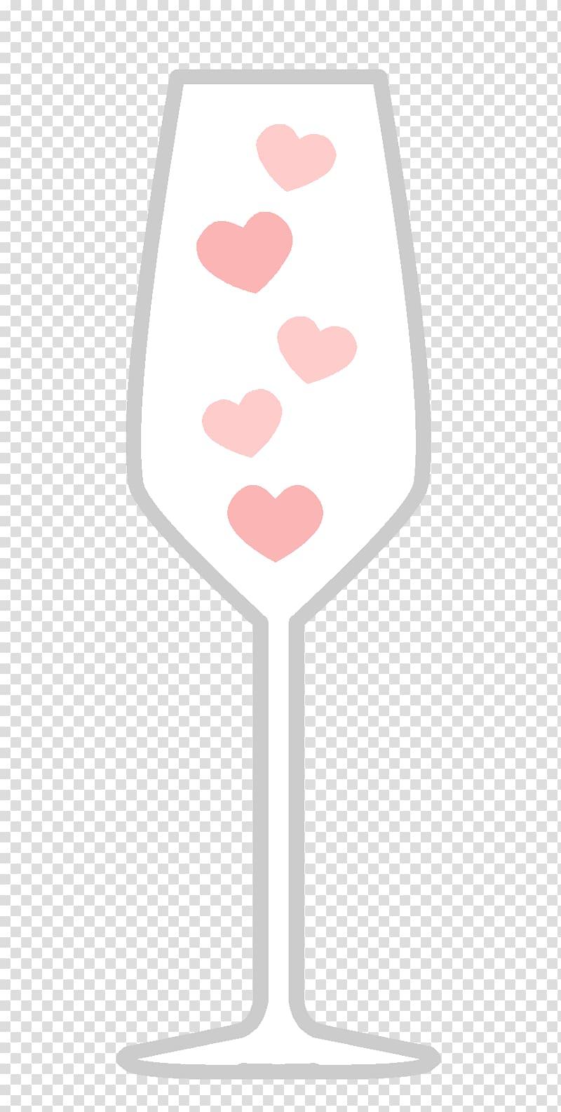 Wine glass Champagne glass Pink M Font, glass transparent.