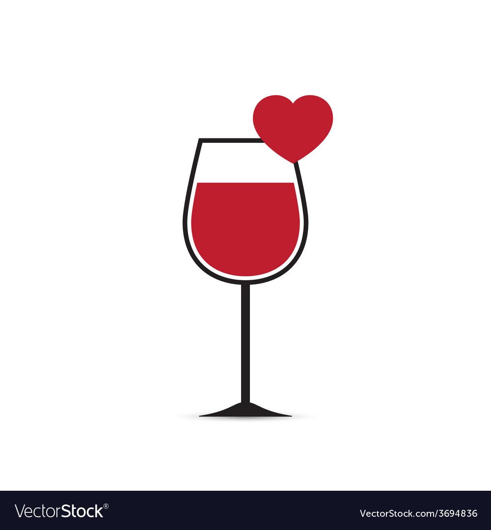 Love Heart Wine Glass.