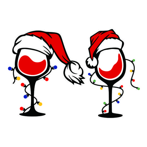 "Cuttable Designs SVG on Instagram: ""Christmas Lights Wine."