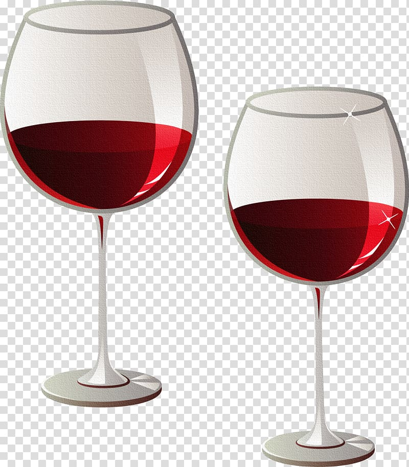 Red Wine White wine Wine glass , High mounted foot glasses of red.