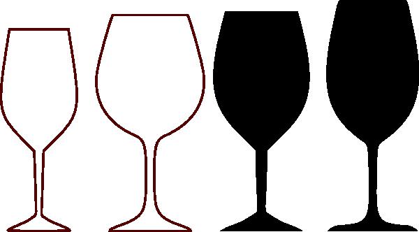 Wine glass vector clipart.
