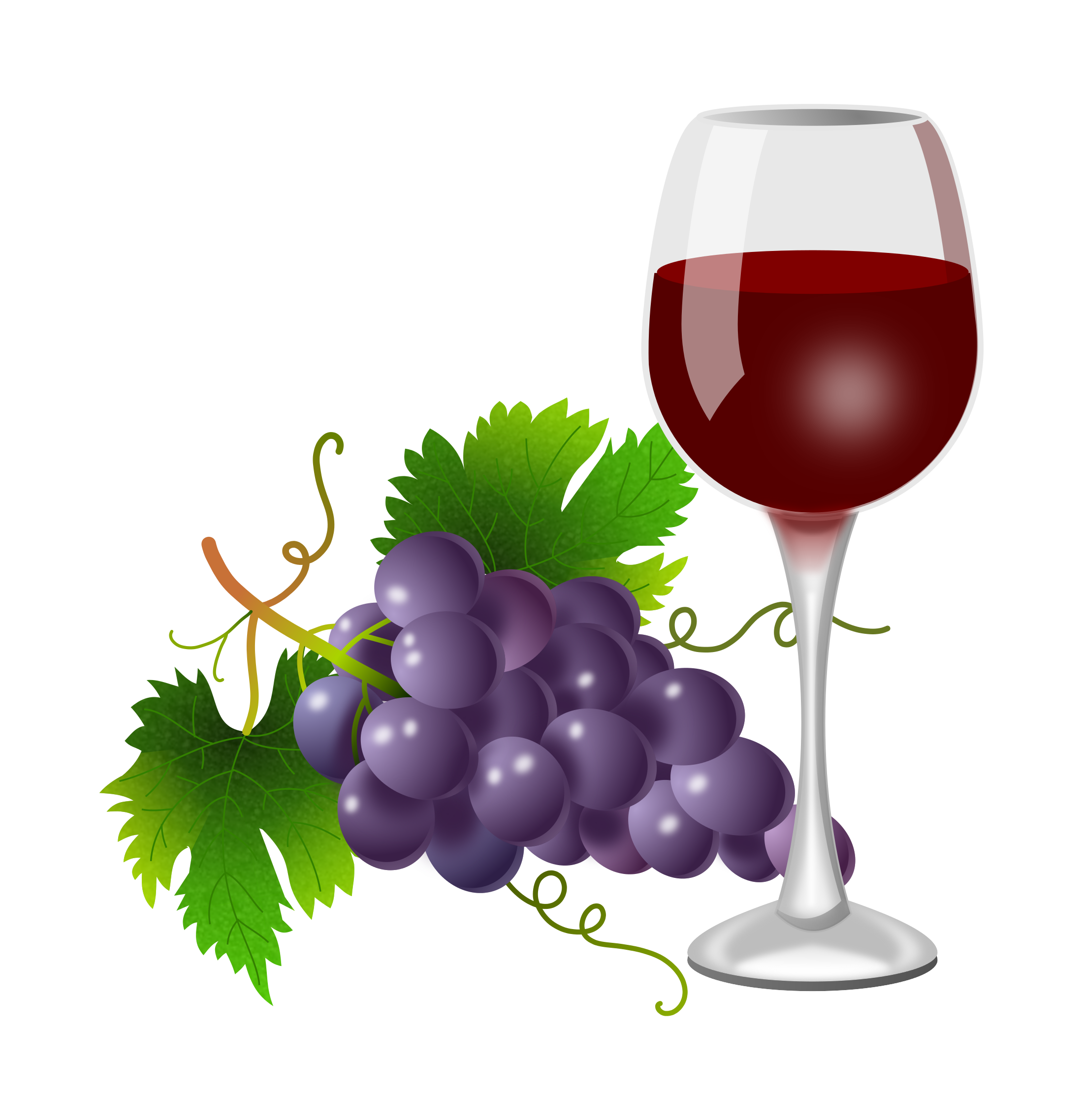 Purple grapes and wine glass 2200x2276.