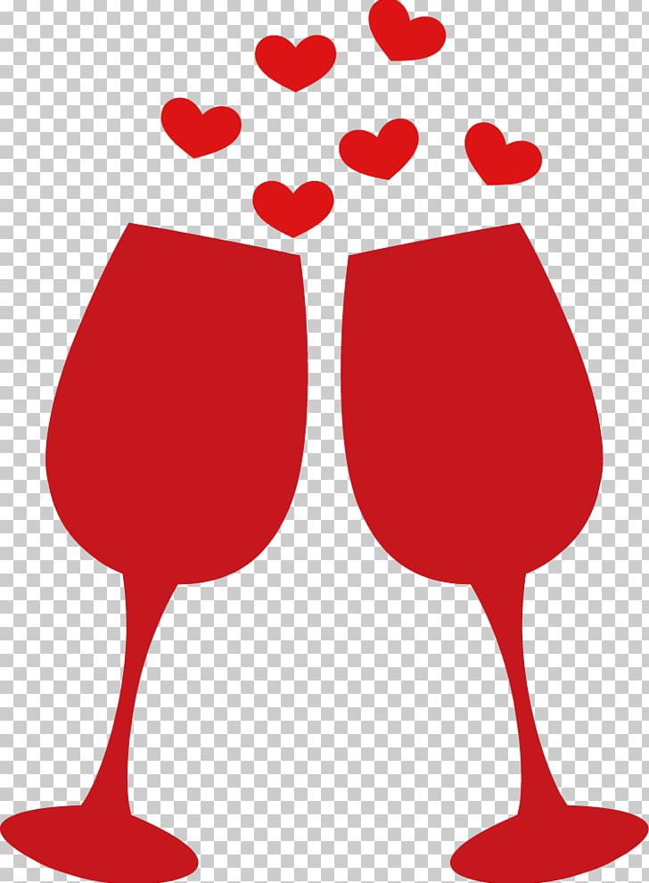 Wine Glass Wedding PNG, Clipart, Beak, Creative Vector.