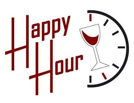 Happy Hour Border Clipart.