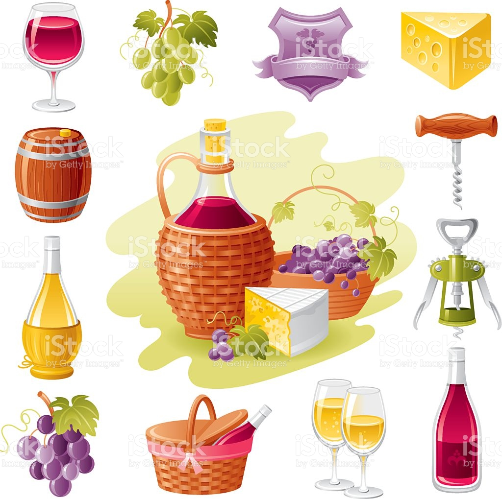 Wine Harvest Icon Set stock vector art 165748373.