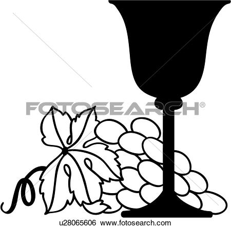 Clip Art of , food, fruit, goblet, grape, harvest, vineyard, wine.