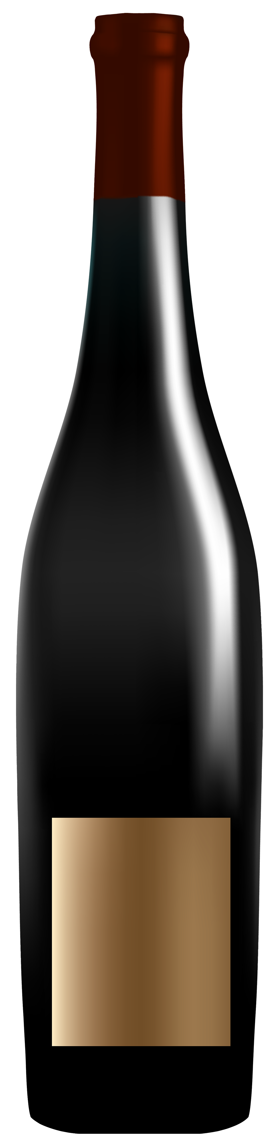 Elegant Wine Bottle PNG Clipart.