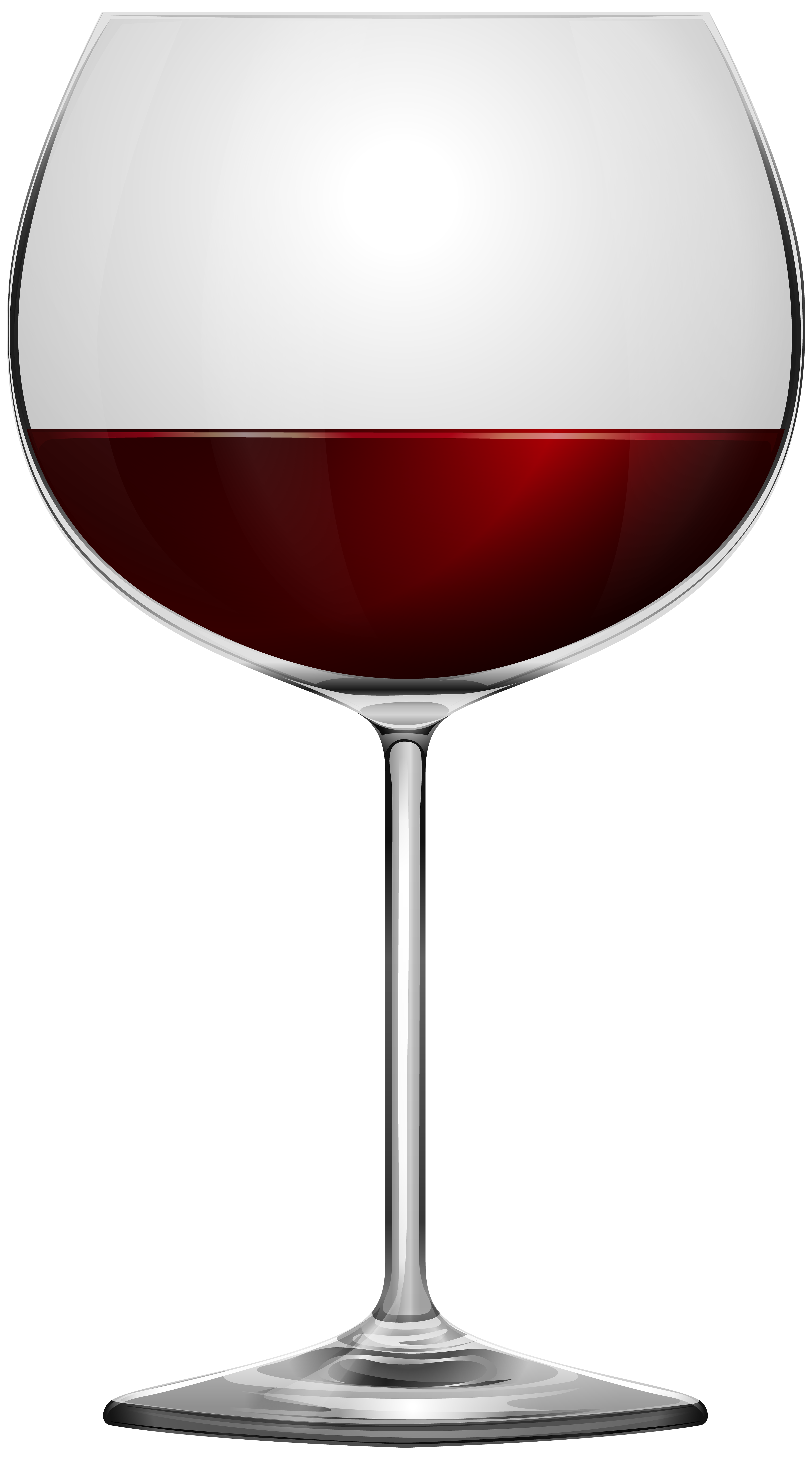 Red Wine Glass Transparent PNG Image.