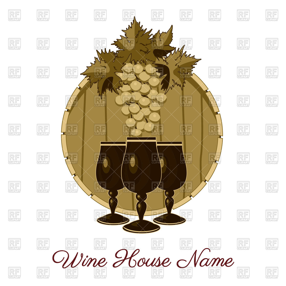 Wine house or vineyard emblem.