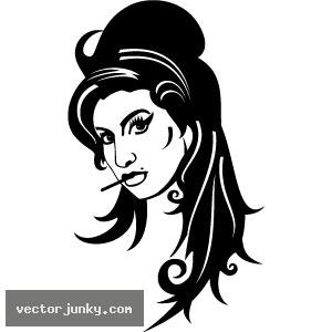 Amy Winehouse Clip Art.