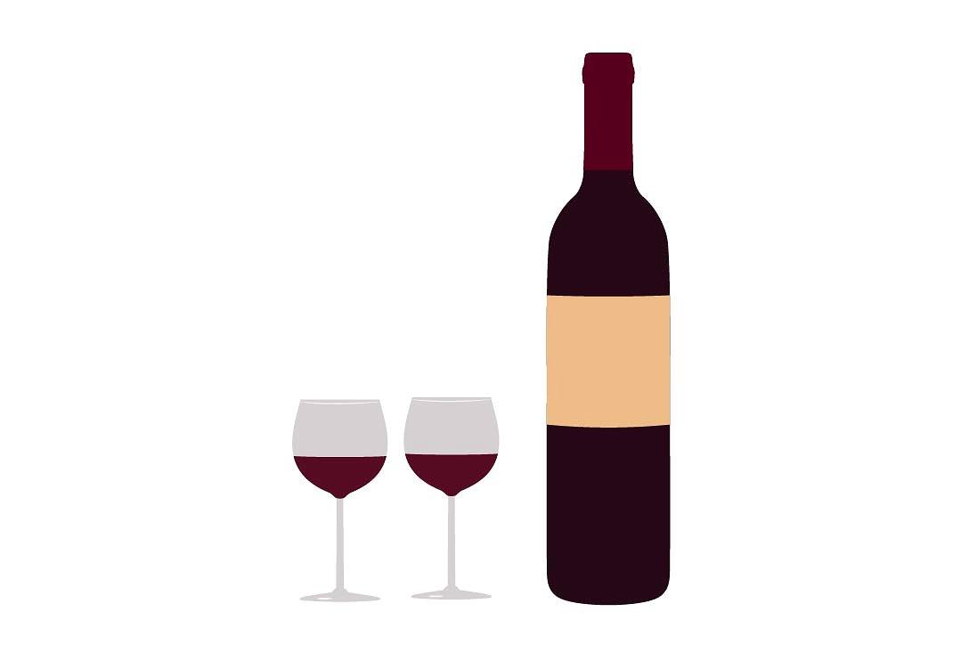 Bottle Of Wine Clipart.