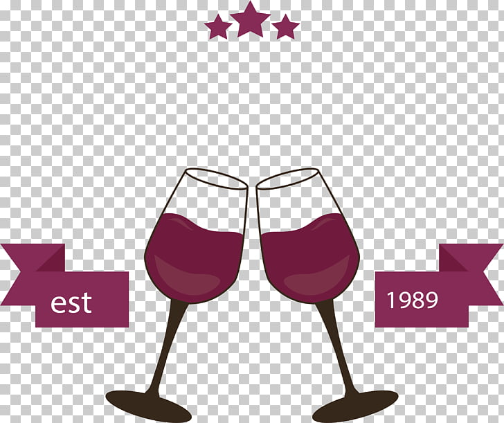 Red Wine Wine glass, Cheers red wine label PNG clipart.