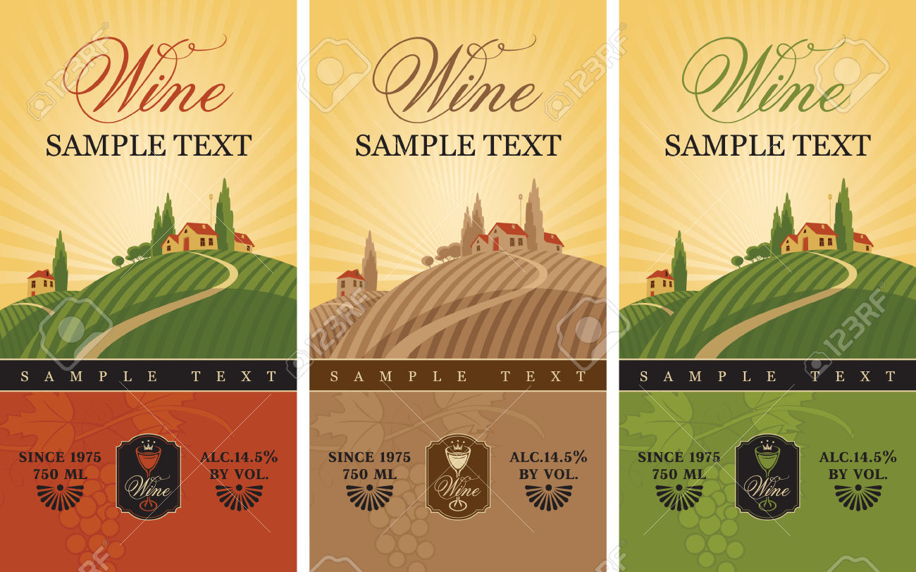 24,919 Wine Label Stock Vector Illustration And Royalty Free Wine.