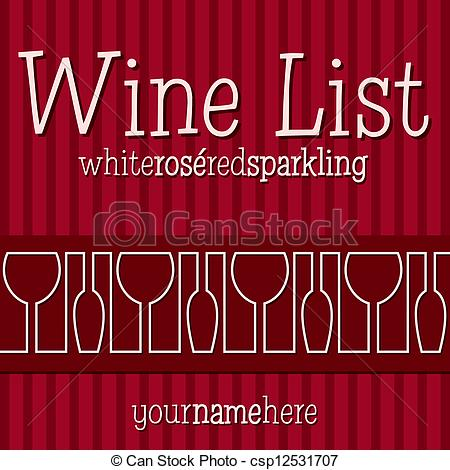 Vector Clipart of Wine List.