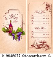 Wine list Clipart and Illustration. 1,948 wine list clip art.