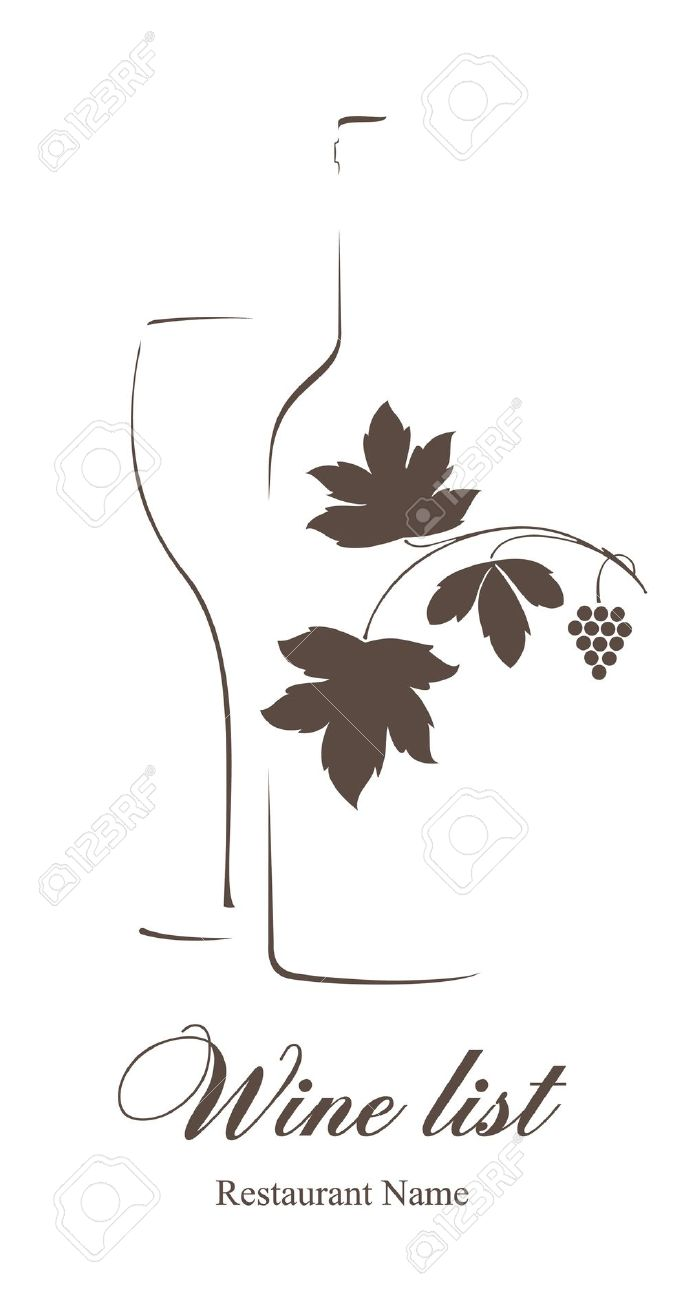 Wine list clipart clipground