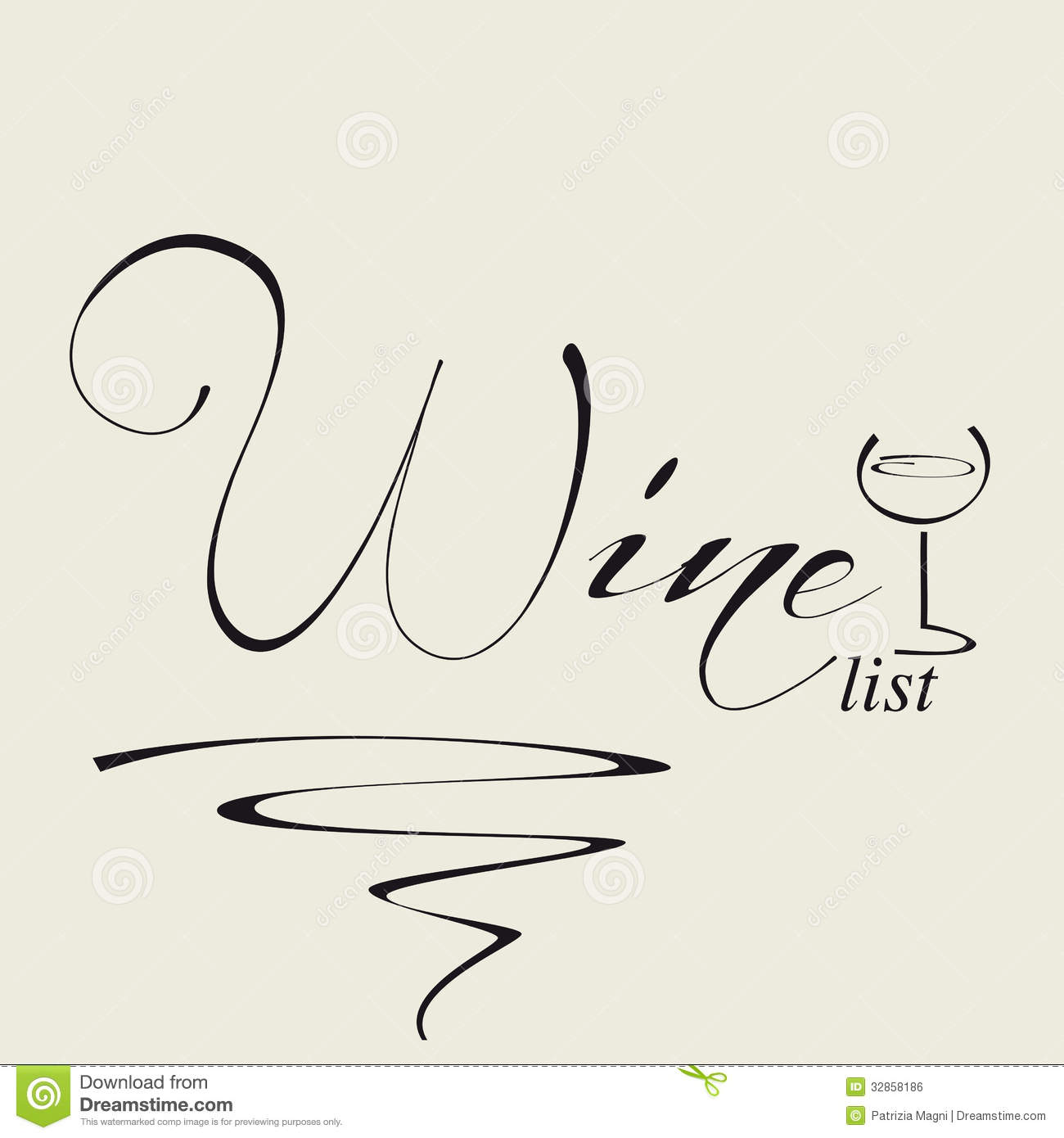 Cover For Wine List Royalty Free Stock Image.