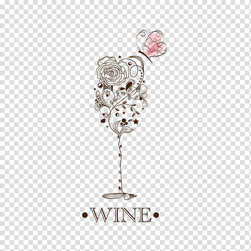 Wine glass Wine tasting Sommelier Wine list, Pattern glass.