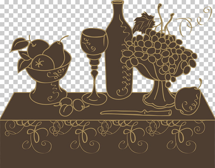 Wine list Menu Restaurant, Brown fruit table PNG clipart.