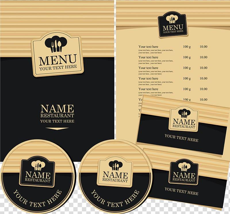Cafe Menu Wine list Restaurant, Vintage menu transparent.