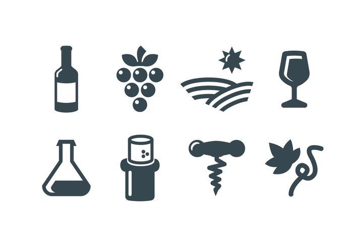 Wine, wine making vector icons.