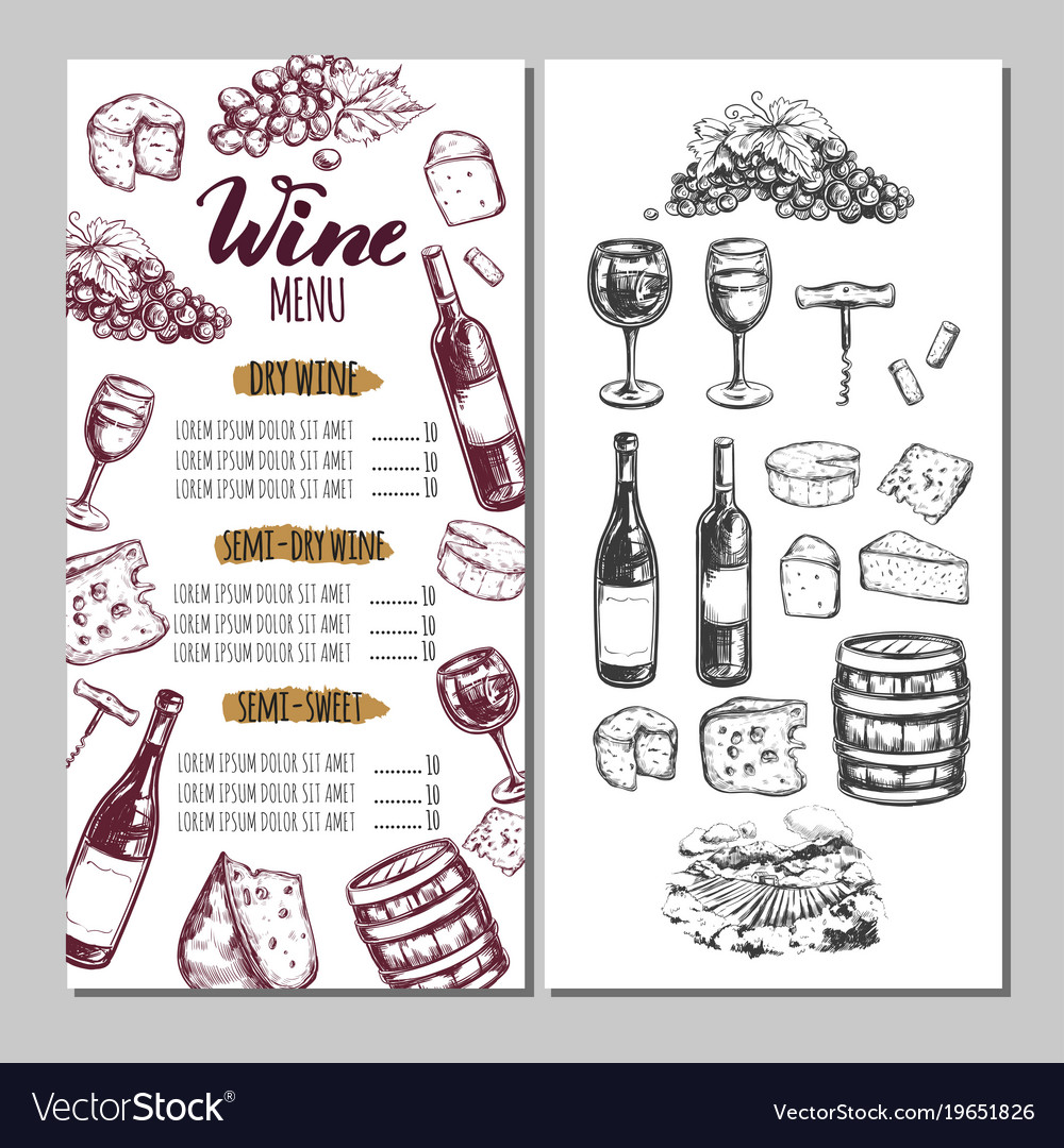 Wine restaurant menu 6.