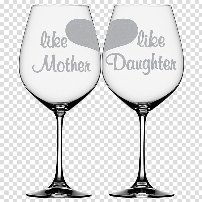 Wine glass Mug Mother, mom and daughter transparent.