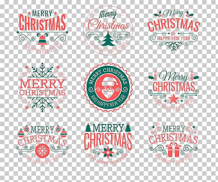 Santa Claus Christmas decoration Badge , Christmas wine.