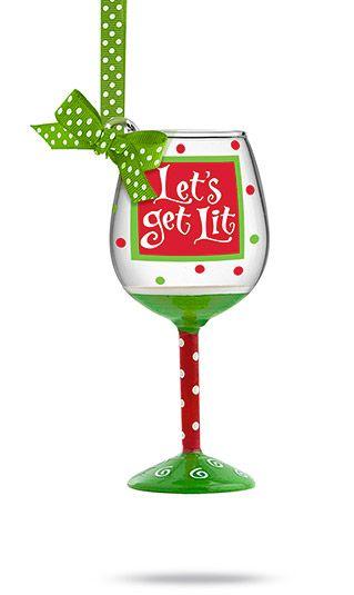 mini wine glass ornament.