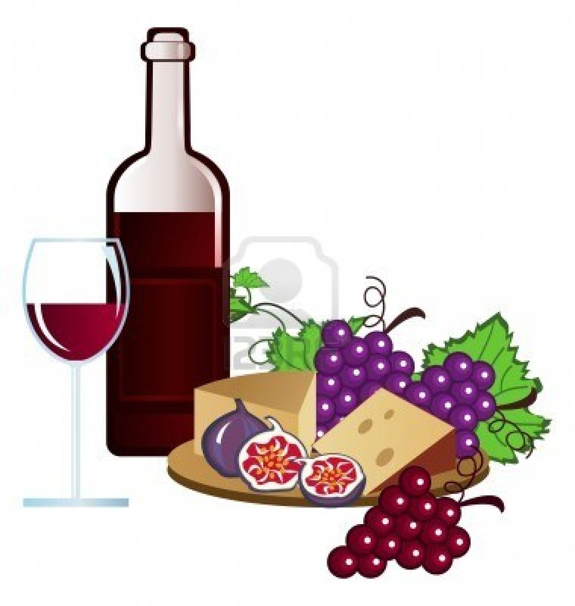 Wine Tasting Clipart.