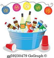 Wine Party Clip Art.