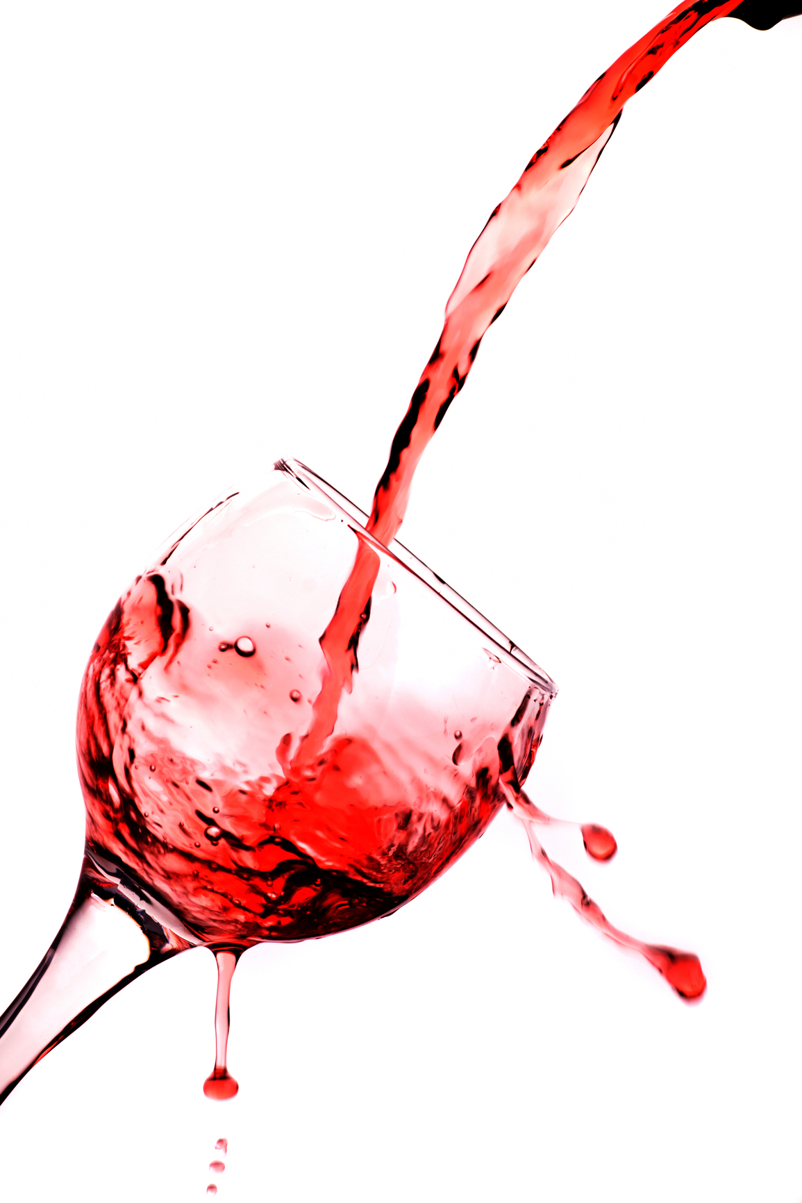 White Wine Pouring Clipart.