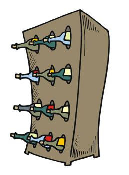 Wine Rack Clip Art.